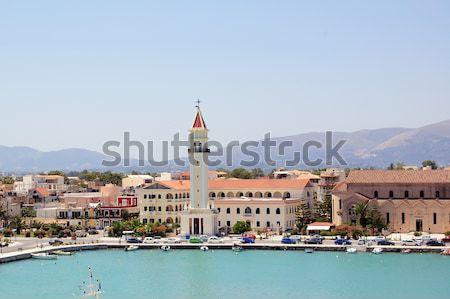 ザキントス ポート パノラマ 表示 町 ギリシャ ストックフォト © sirylok