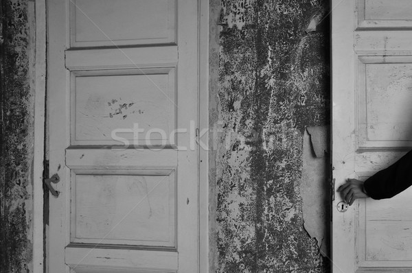 doll hand haunted house door Stock photo © sirylok