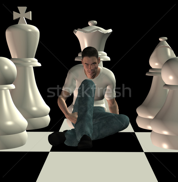 Stock photo: checkmate 3d illustration