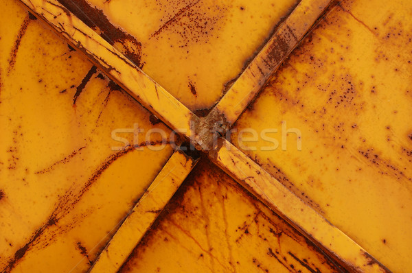 rusty yellow metal background Stock photo © sirylok