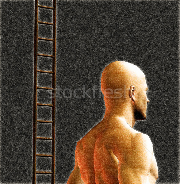 male figure and ladder Stock photo © sirylok