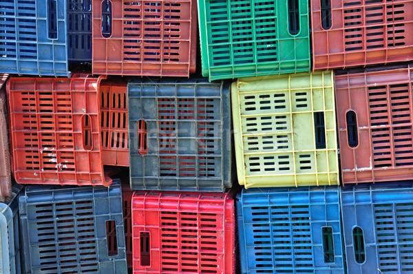 Kolorowy plastikowe owoców tekstury Zdjęcia stock © sirylok