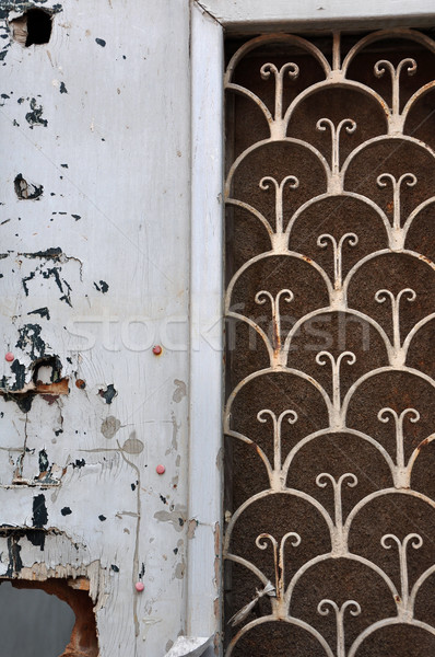 wooden door rusty pattern Stock photo © sirylok