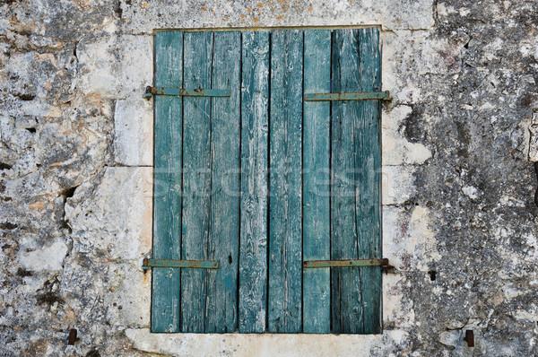 青 石の壁 伝統的な 家 ザキントス ストックフォト © sirylok