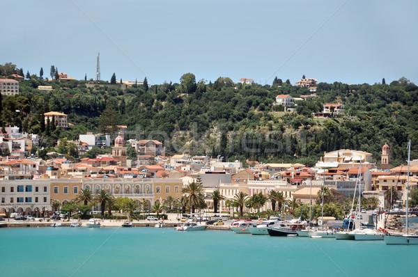 ポート ザキントス パノラマ 表示 町 ギリシャ ストックフォト © sirylok