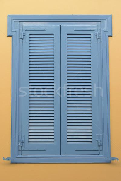 blue window wooden shutter Stock photo © sirylok