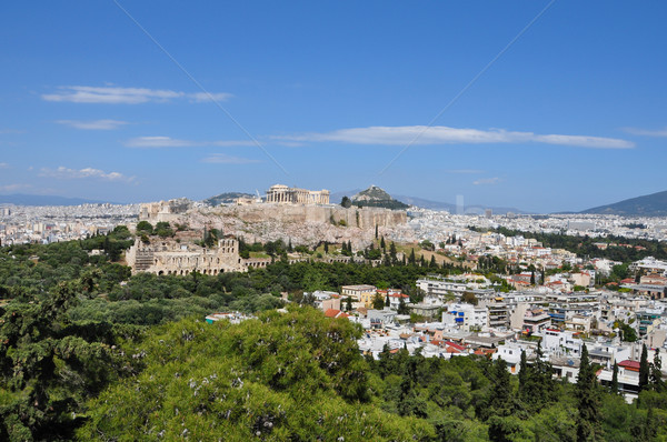 Panorâmico ver Atenas Grécia cidade edifícios Foto stock © sirylok