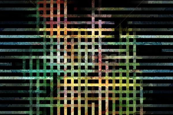 Stockfoto: Lijnen · patroon · abstract · kleurrijk · digitaal · ontwerp