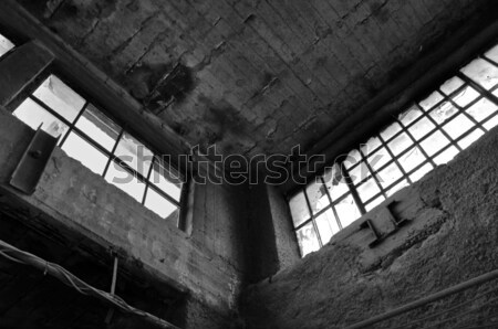 broken windows concrete wall in derelict factory Stock photo © sirylok