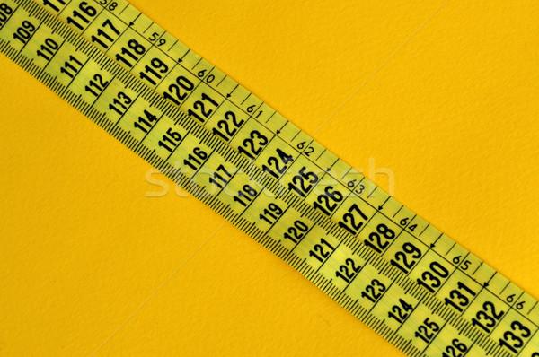 プラスチック 巻き尺 インチ 抽象的な 番号 黄色 ストックフォト © sirylok