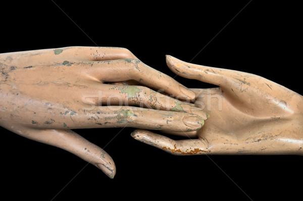 Mãos resistiu plástico manequim boneca mulher Foto stock © sirylok