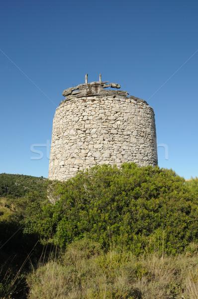 stone windmill Stock photo © sirylok