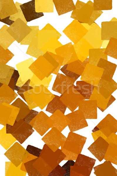 Amarelo abstrato padrão branco digitalmente Foto stock © sirylok