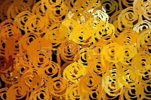 Foto stock: Spiralis · padrão · formas · abstrato · ilustração · escove