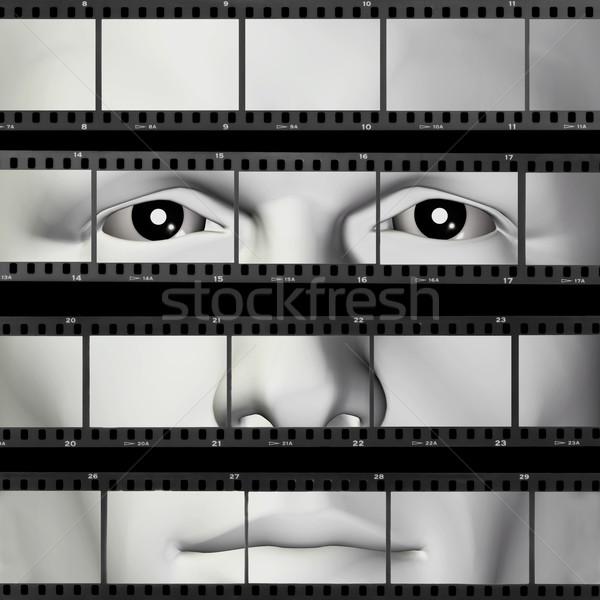 man portrait filmstrip Stock photo © sirylok