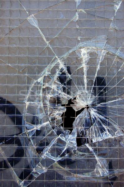 Stłuczone szkło powierzchnia tekstury szczegół streszczenie wzór Zdjęcia stock © sirylok