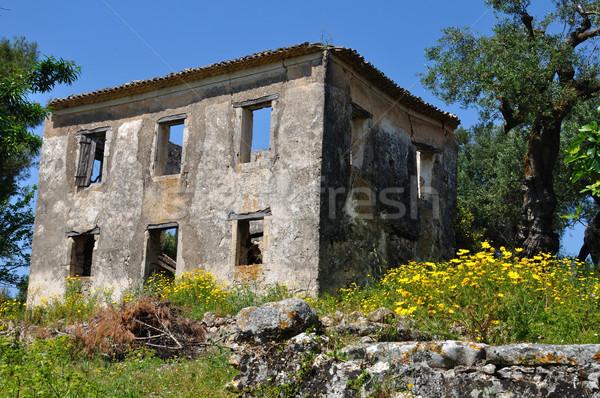 Verlaten huis voorjaar landschap landelijk zakynthos Stockfoto © sirylok