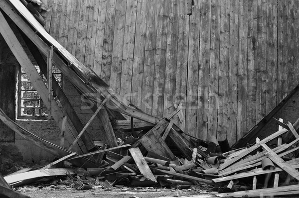 collapsed roof house Stock photo © sirylok