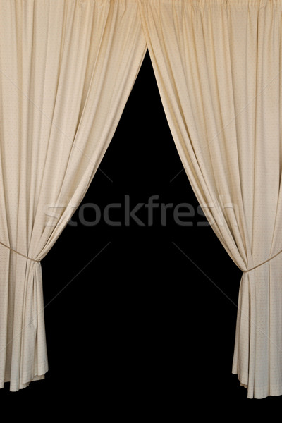 open curtains elegant drapes Stock photo © sirylok