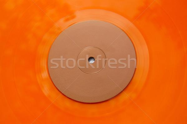 Narancs bakelit lemez textúra színes részlet Stock fotó © sirylok