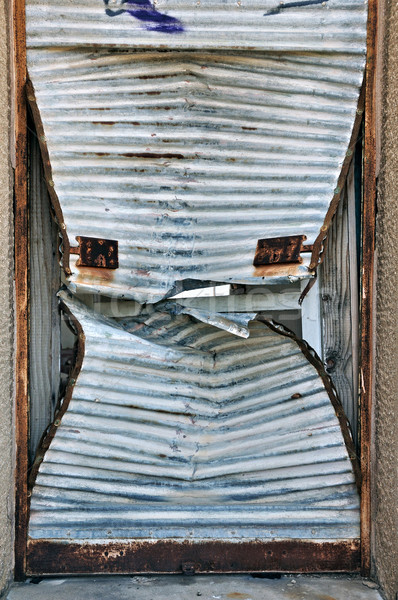 rusty door shutter background Stock photo © sirylok