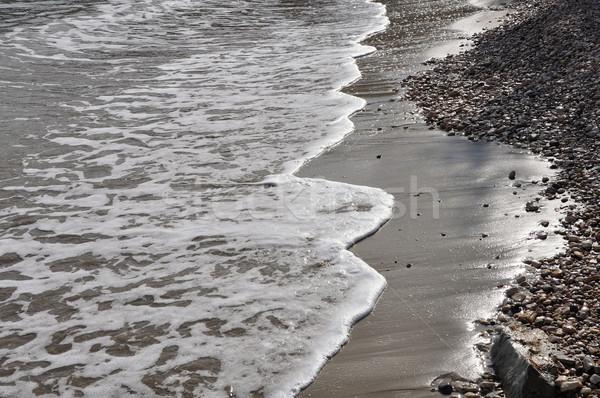 Fale kamień plaży krawędź streszczenie morza Zdjęcia stock © sirylok