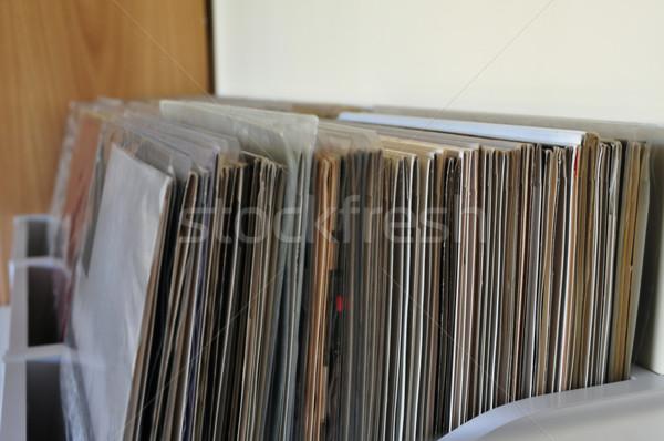 Winylu rekordy muzyki kolekcja przechowywania disco Zdjęcia stock © sirylok