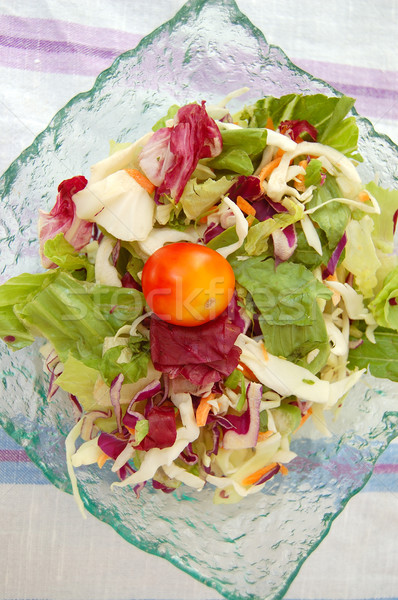 mixed salad bowl Stock photo © sirylok