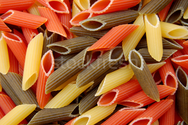 penne tricolore pasta background Stock photo © sirylok