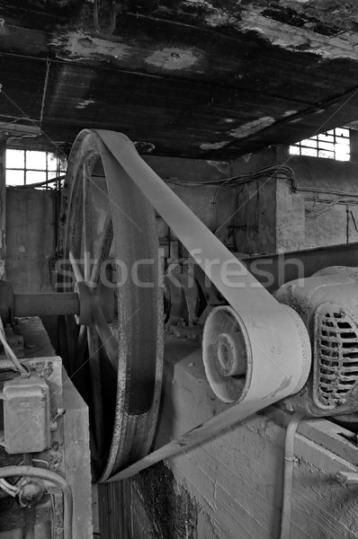 belt driven machinery in abandoned factory Stock photo © sirylok