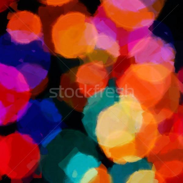 Círculos padrão abstrato ilustração colorido Foto stock © sirylok