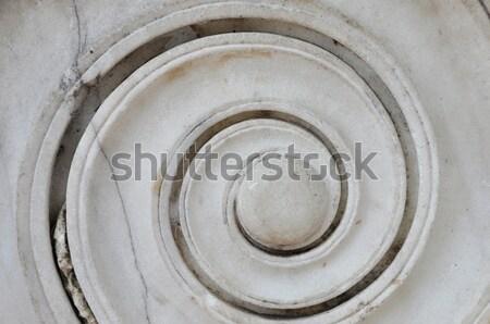 Antica marmo spirale greco ionica colonna Foto d'archivio © sirylok