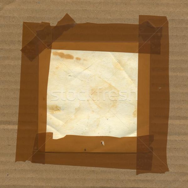 Гранж границе кадр картона бумаги Сток-фото © sirylok