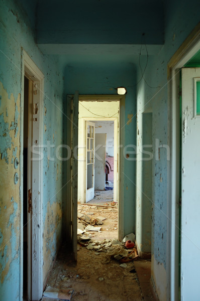 peeling hallway in abandoned building Stock photo © sirylok