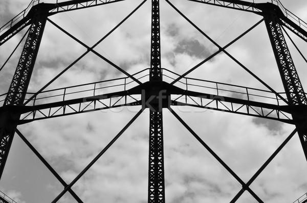 Industrielle cadre fer structure externe résumé Photo stock © sirylok