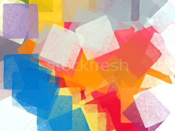 広場 抽象的な カラフル 正方形 実例 ブラシ ストックフォト © sirylok