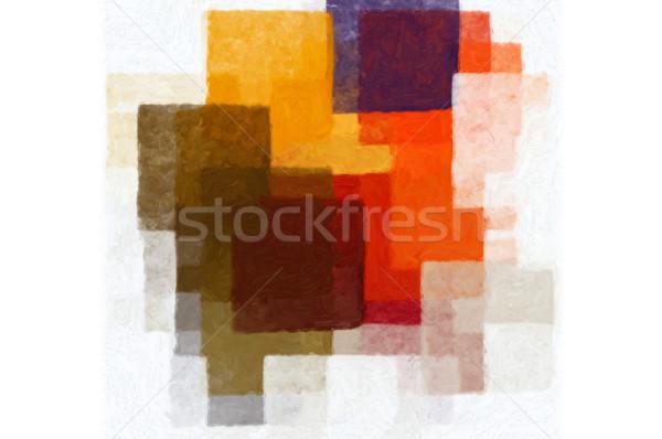 Padrão colorido branco mínimo tinta a óleo Foto stock © sirylok