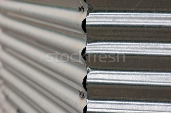 corrugated metal fence Stock photo © sirylok