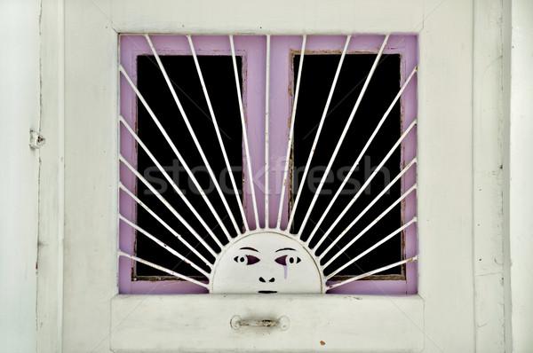 Métal soleil modèle vintage porte vieux Photo stock © sirylok