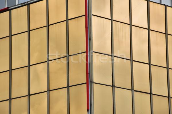 Kantoorgebouw glas Windows moderne Stockfoto © sirylok
