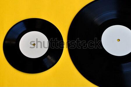 vinyl record white label promo Stock photo © sirylok