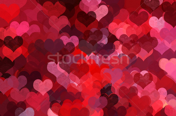 A forma di cuore pattern abstract illustrazione amore romance Foto d'archivio © sirylok