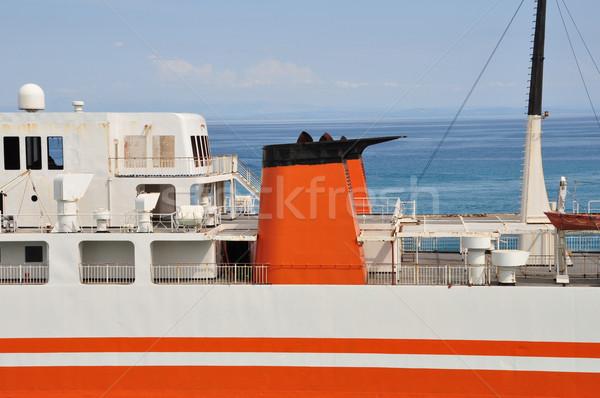 フェリー ボート デッキ 錆 捨てられた 旅客船 ストックフォト © sirylok