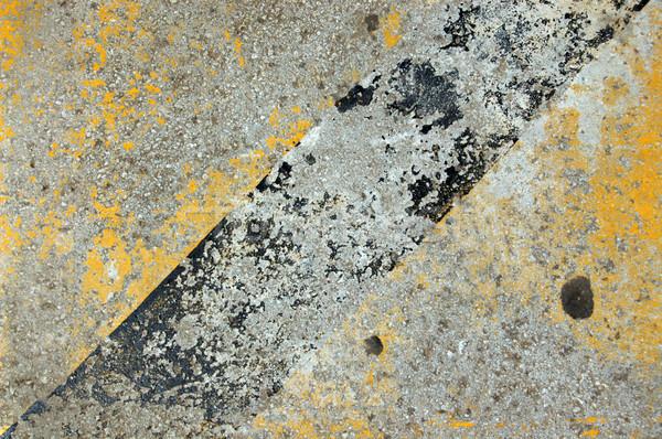 Járda beton citromsárga fekete festék háttér Stock fotó © sirylok