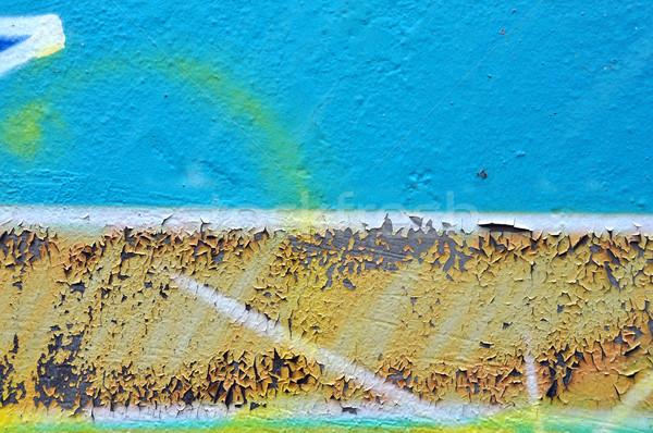 Viharvert graffiti textúra festék absztrakt mázgás Stock fotó © sirylok