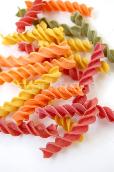 Pasta sapori cucina italiana bianco texture alimentare Foto d'archivio © sirylok