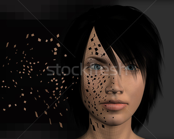 downloading data 3d illustration Stock photo © sirylok