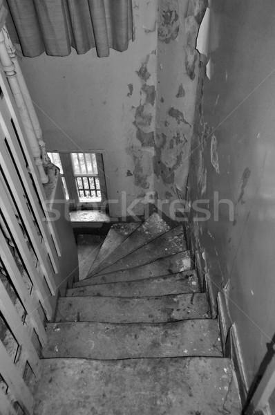 crooked wooden staircase Stock photo © sirylok