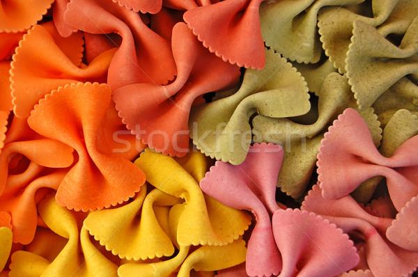 colored farfalle pasta background Stock photo © sirylok