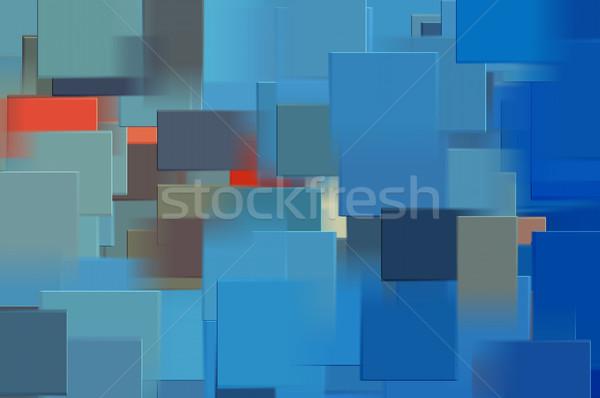 Niebieski prostokątny streszczenie Zdjęcia stock © sirylok